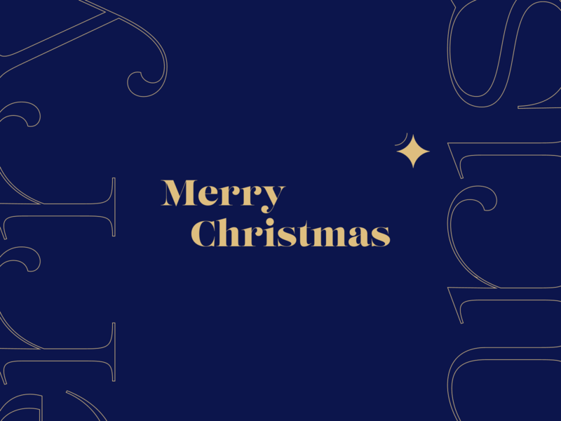 Merry Christmas ✨ design holidays letter star logo identity branding icon christ christmas logotype illustration typography