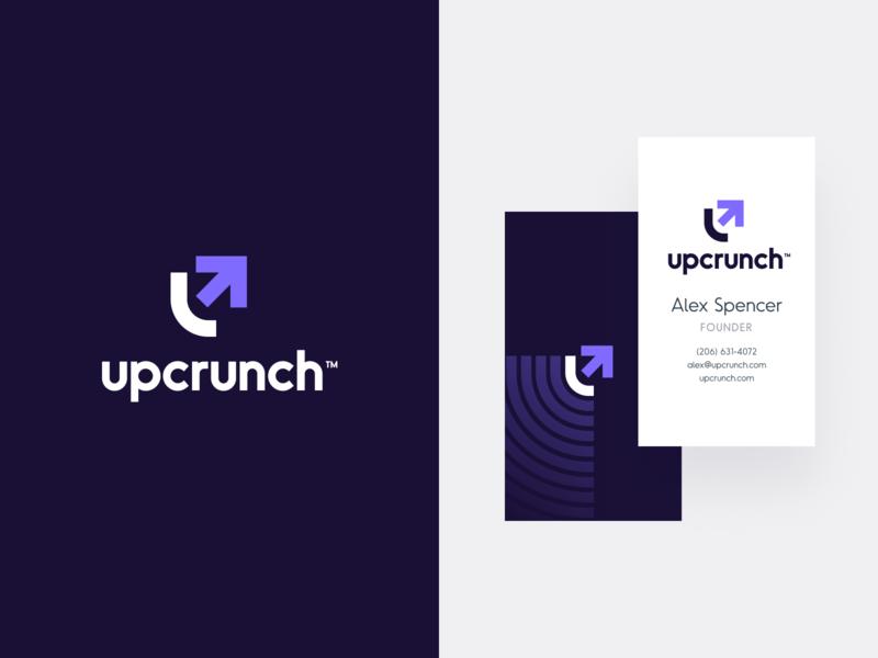 UpCrunch Brand logo mark colors up typography unfold lending crunch logomaker brand identity logodesign logo mark branding