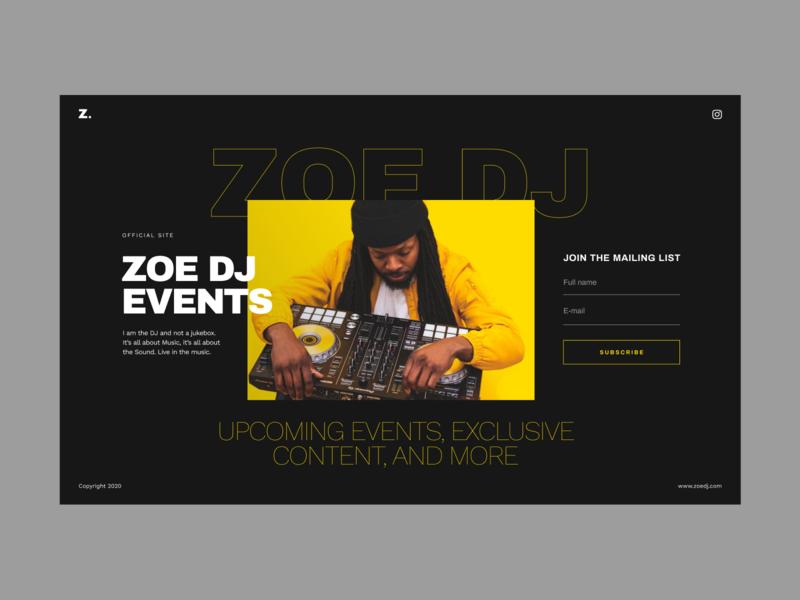 Landing Page Template DJ