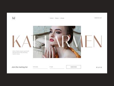 Landing Page Template clean design website unfold ui template design fashion beauty blogger type typography landing page design web  design