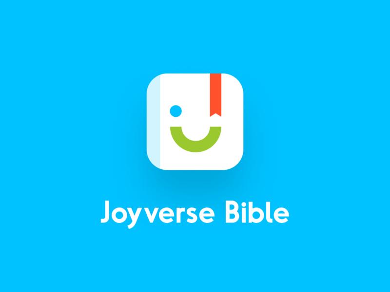 JoyVerse Logo brand identity app unfold joyverse joy christian bible verse bible clean mark logotype typography logo design branding