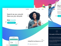 Fintech Colorful Landing Page