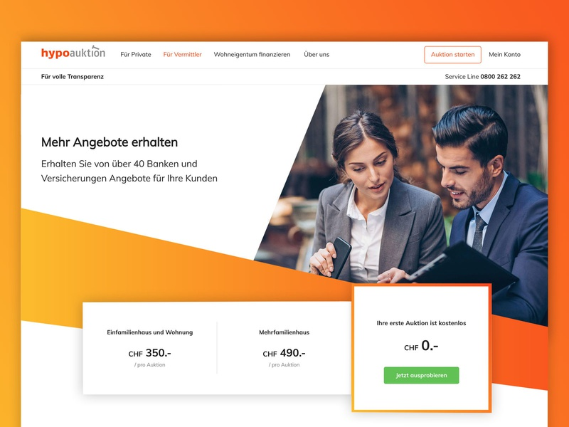 Professional Landing Page professional finance app bank mortgage agents benefits pricing landing page homepage fintech orange gradient