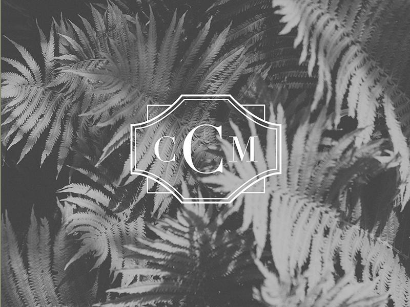 CCM - Submark monogram coastal submark branding logo design
