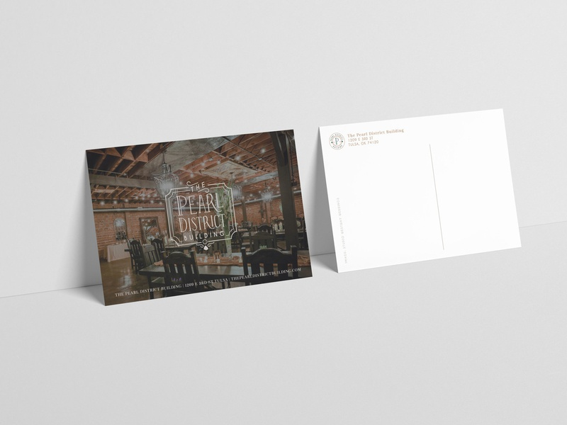 Pearl District Wedding Venue Postcard stationary branding rebranding logo logo design postcards