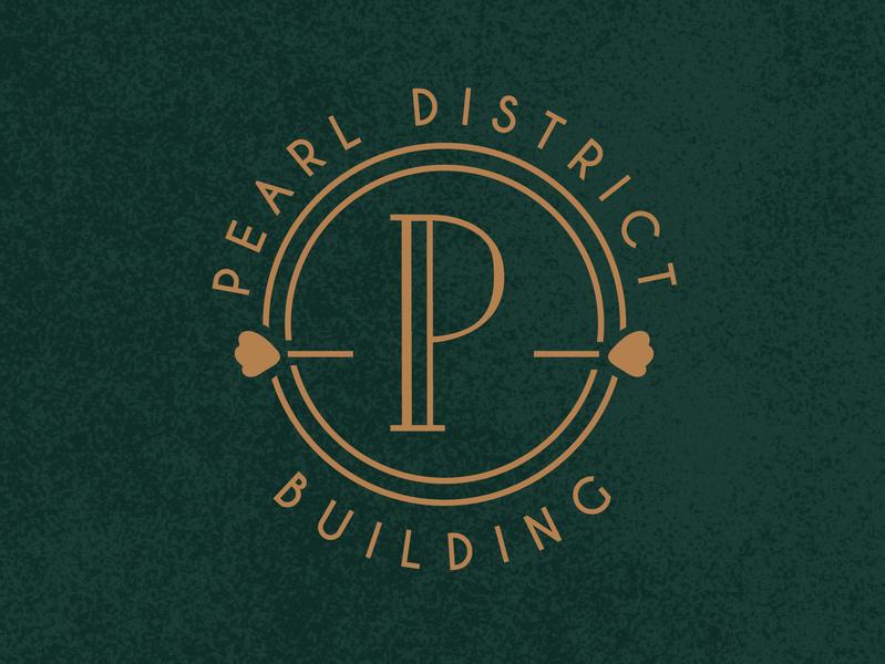 Pearl District Wedding Venue Submark speakeasy eclectic weddingvenue branding logo