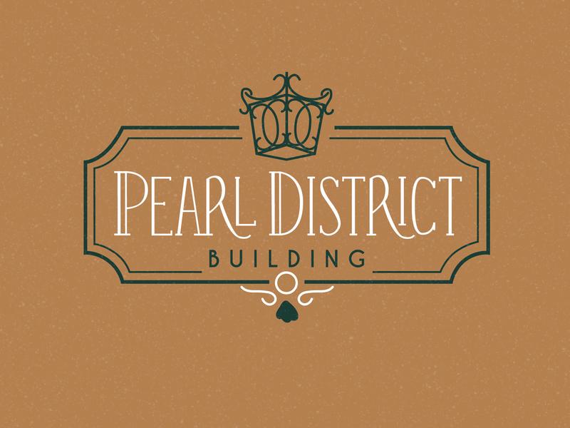 Pearl District Wedding Venue Logo eclectic branding typography design customtypography logodesign