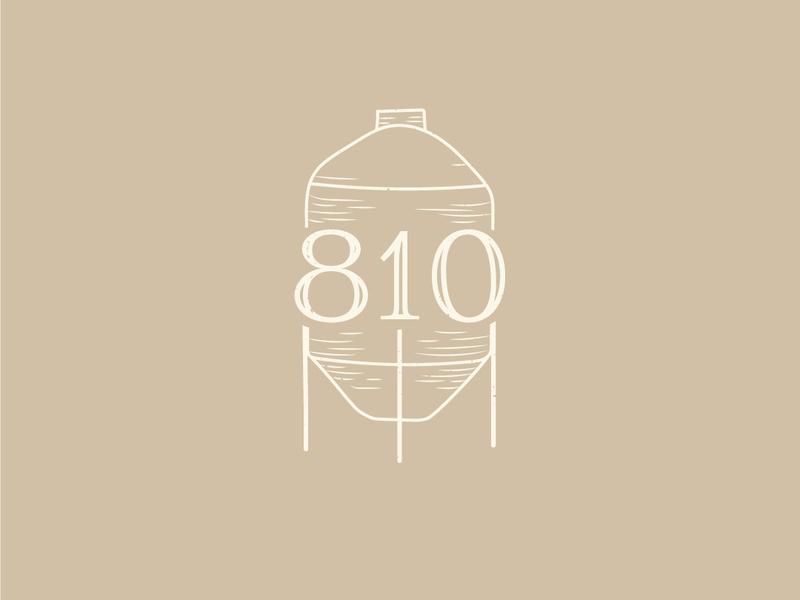 Grain Silo 810 Ranch and Cattle Co logodesign design branding drawing rustic grain silo line drawing illustration logo