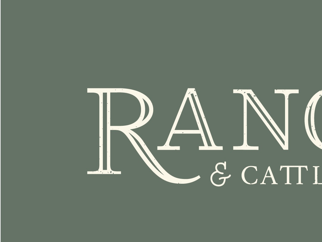 Typography 810 Ranch and Cattle Co ranch farming custom design logo design logo branding rustic customtype custom typography typogaphy