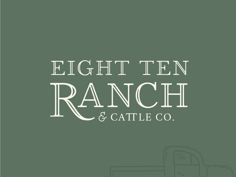810 Ranch Logo Variation custom logo typography wedding venue rustic logo design custom font branding