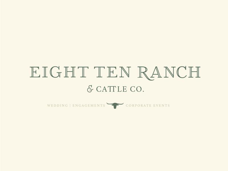 810 Main Logo illustration farmhouse rustic custom font custom logotype typography wedding venue logo design branding