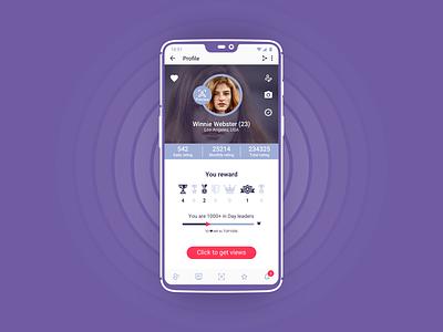 User profile V2 ui ux motion prototype app design animation