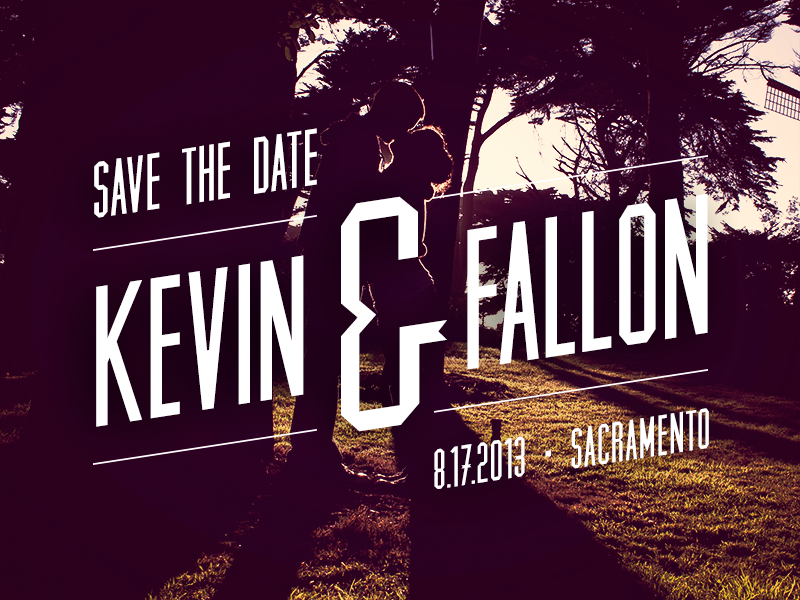 save the date by kevin wilson dribbble