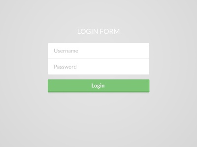 Another Flat Login login form flat login flat design flat ui flat ui design form input text
