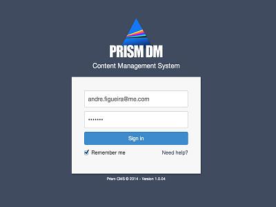 CMS Login page cms login bootstrap