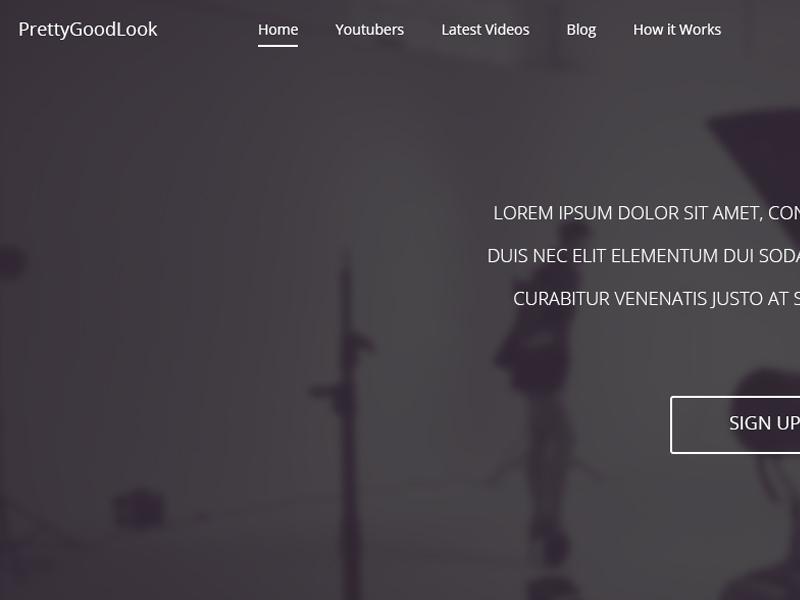 PrettyGoodLook web design clean website splash homepage