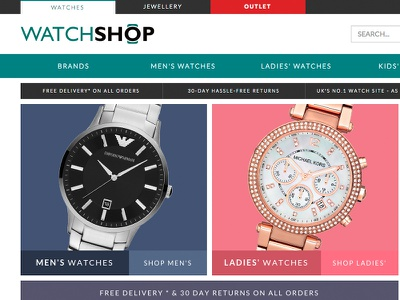 Watchshop Responsive Redesign watches photos black ecommerce watchshop redesign website dark