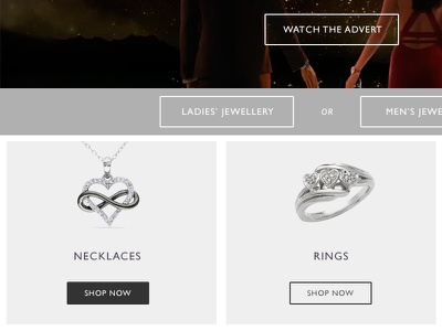 Jewellery simple clean online sales high traffic website e-commerce jewellery