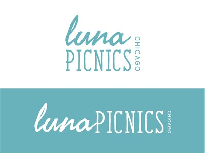 Luna Picnics Chicago chicago relax outdoors outdoor spanish wordmarklogo wordmark client nature branding logo green business art illustrator vector illustration design