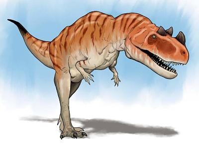 Ceratosaurus illustration photoshop cintiq wacom digital age of dinosaurs neonmob dinosaur
