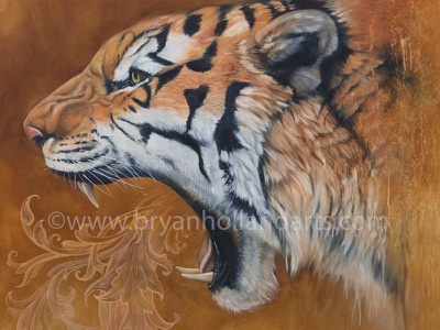 Sound Of memory orange animal flourish decorative mouth teeth growl tiger