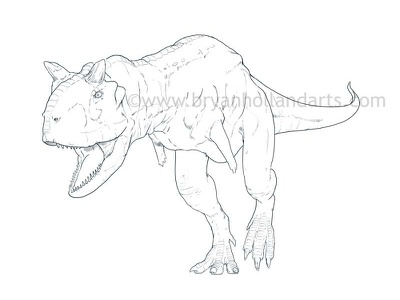 Carnotaurus photoshop cintiq wacom age of dinosaurs neonmob dinosaur