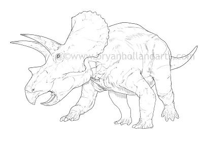 Triceratops photoshop cintiq wacom age of dinosaurs neonmob dinosaur
