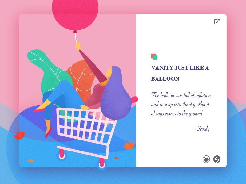 Vanity just like a balloon colors illustrations web ui