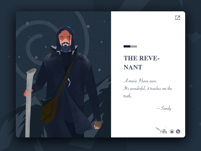 """the movie I have watched before, which named """"The Revenant"""". colors illustrations web ui"""