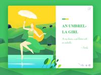 An umbrella girl