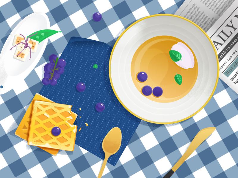 Food illustration design food colors ui illustrations