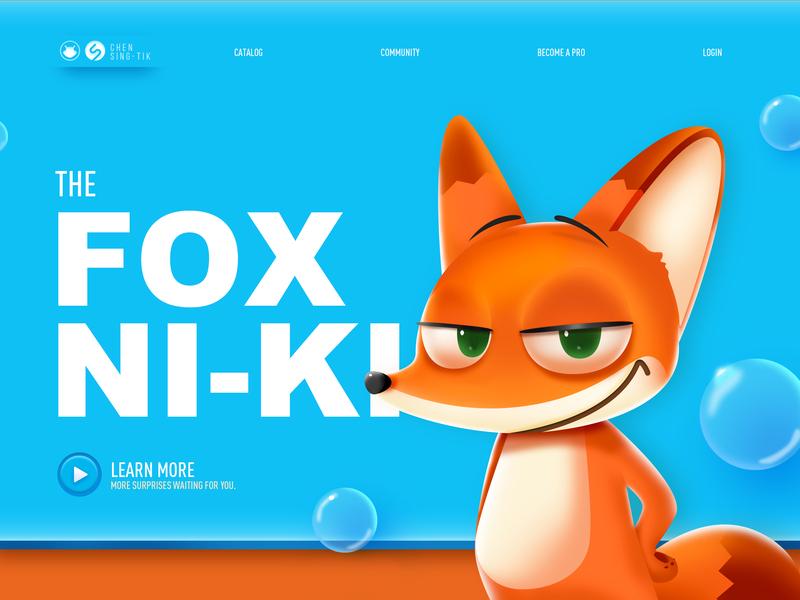 The Fox Ni-Ki app ui web design colors illustrations