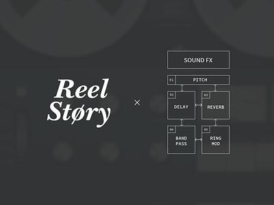 Reel Story - logo reel story recorder app logo mobile ipad audio effects