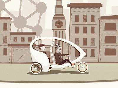 Bubble Taxi texture vector startup illustration