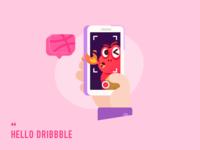 Hello Dribbble Ponyo