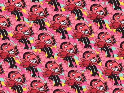 PowerPuff Girls Villains Character Pattern cartoon network photoshop 2d character illustration characterdesign mojojojo villain powerpuffgirl