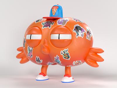 Moko Ko Stickers 3dartist 3dart c4d cinema4d illustration characterdesign character graphic design 3d