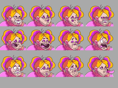 Rainbow Expressions pride rainbow 2d photoshop characterdesign illustration character