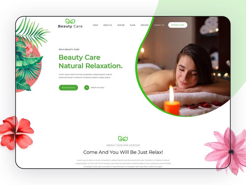 Beauty Care flat app beauty logo vector branding life theme trending natural health adobe design creative ui spa care beauty