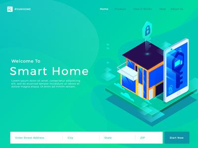 Samrt Home product service web app iot technology smart home