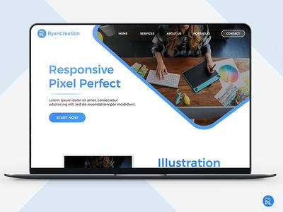 RyanCreation mockup design ryan creation technology app mobil web