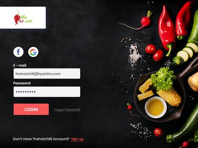 Restaurant - The Hot Chilli hot chilli restaurant web app design mock up layout clean minimal