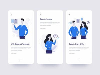 Walkthrough branding layout dribbble flat vector mock up ui blue illustration creative ios android new 2019 design app mobile walkthrough
