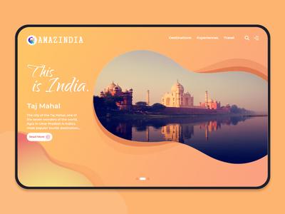 Amazindia mockups app mobile ios table android travel tourism amazing india tajmahal morden