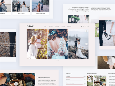 Missio Lite - Free Onepage Template web photography wedding website theme template one page onepage free free template