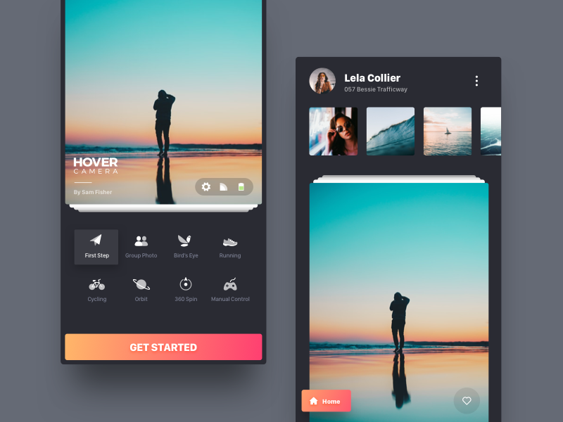 Hover Camera App - New Version by Golevka on Dribbble