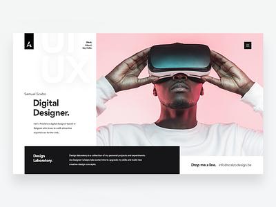 Scalzodesign portfolio website visual design font design webdesign personal website project designer portfolio pink ui  ux clean modern website portfolio