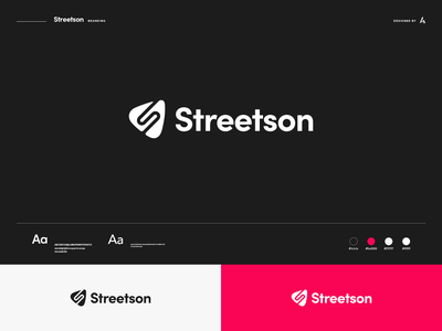 Streetson branding iconography logotype modern logo typography identity design vector logo brand design branding