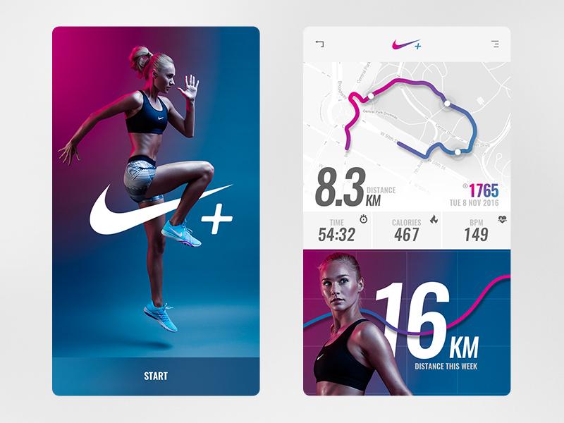 Nike running app concept scalzodesign
