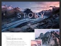 Mountain story website